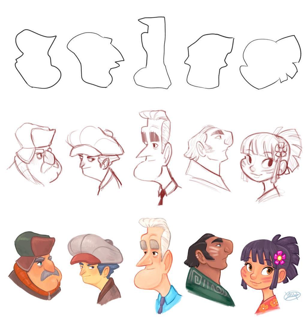 Character Design Shape Challenge : Shape challenge december by luigil on deviantart