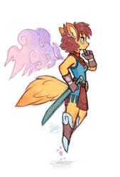 Foxy Warrior by LuigiL