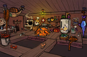 Cat Cook Area Concept by LuigiL