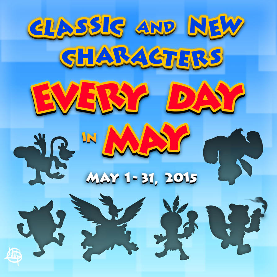 Characters Every Day in May!! by LuigiL