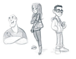 Night Sketches 6-9-15 by LuigiL