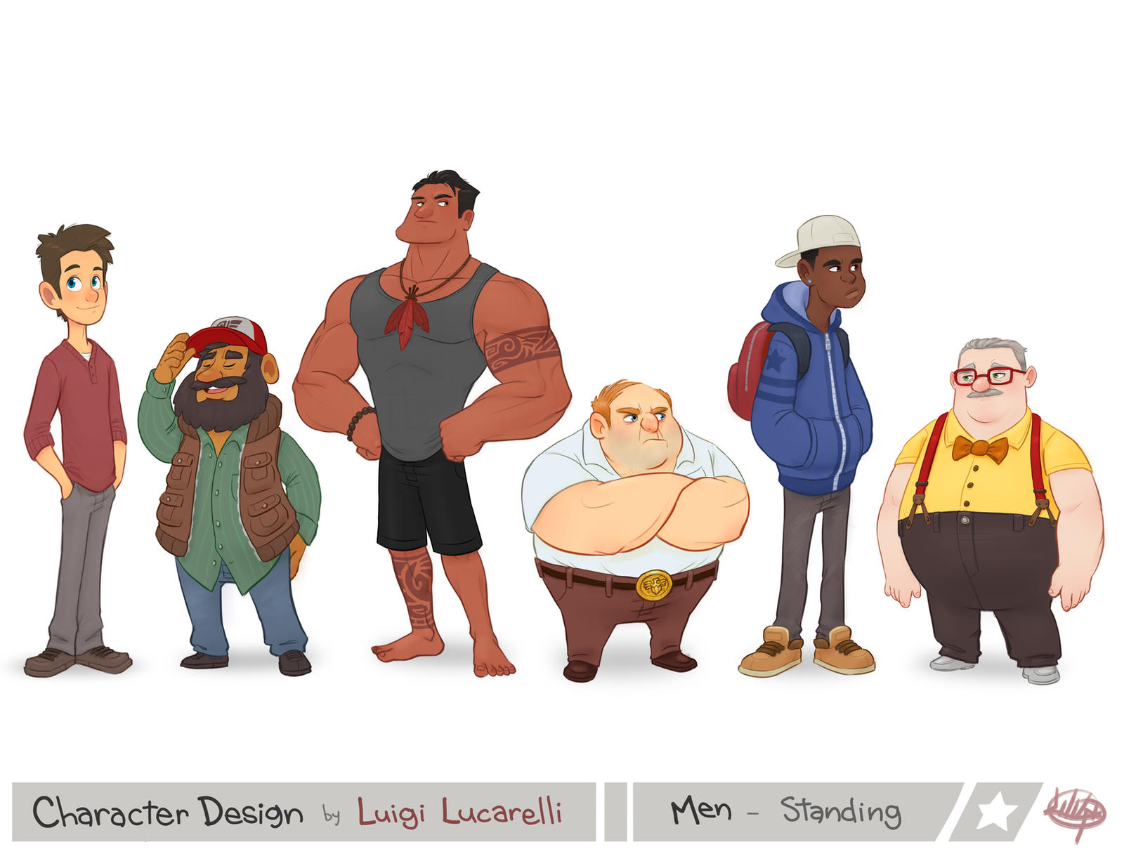 Character Design Man : Men standing by luigil on deviantart