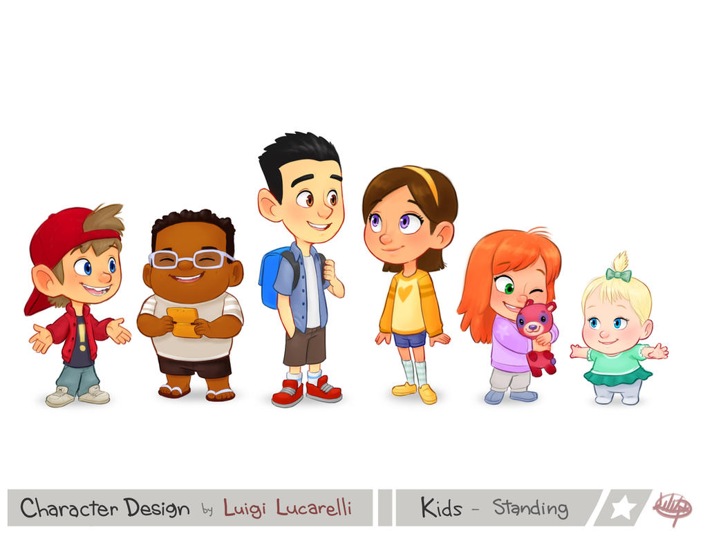 Character Design From The Ground Up Download : Kids standing by luigil on deviantart