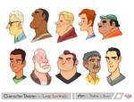 Men Profile Bust