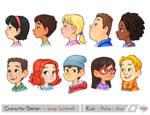 Kids Profile Bust
