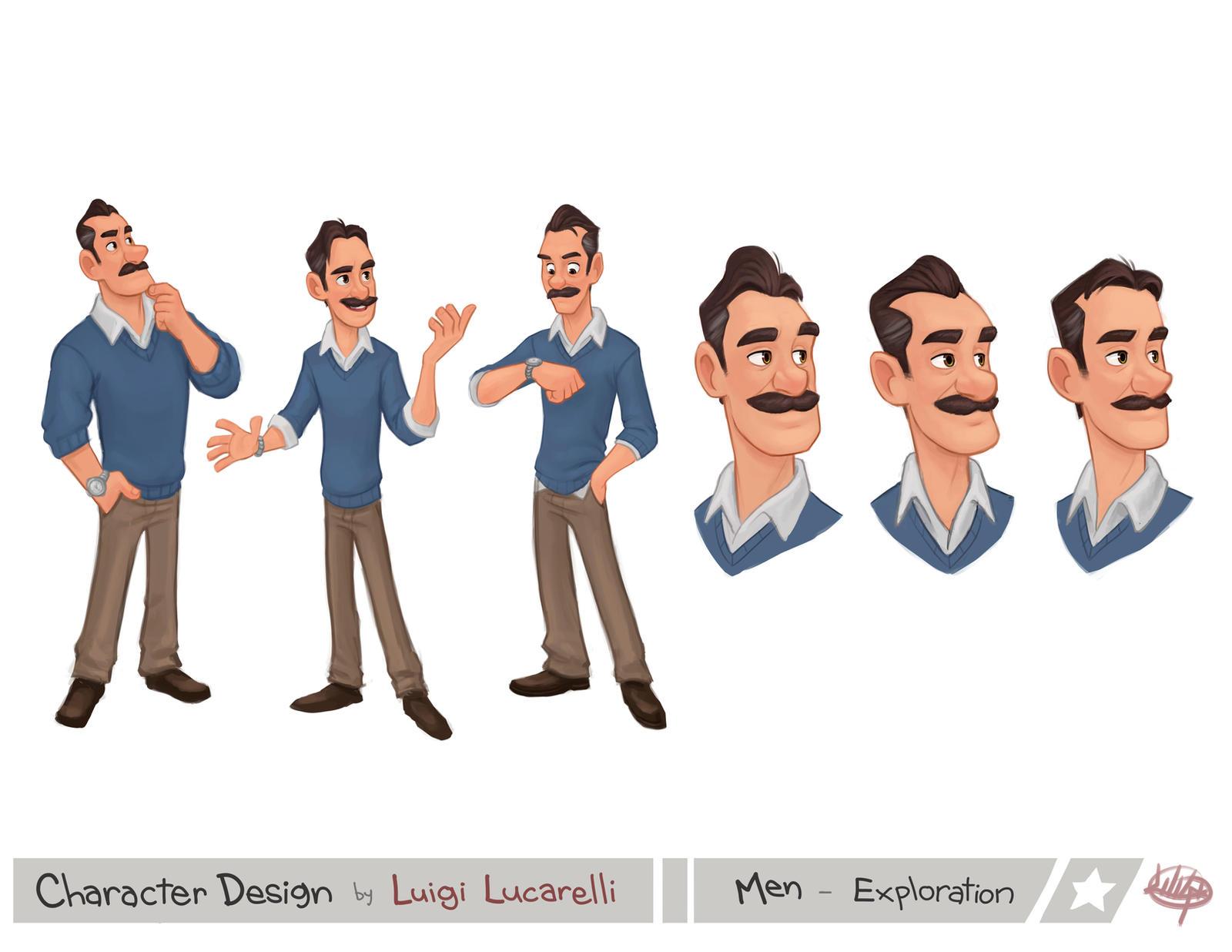Character Design Man : Men exploration by luigil on deviantart