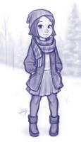 Snowy Day Sketch