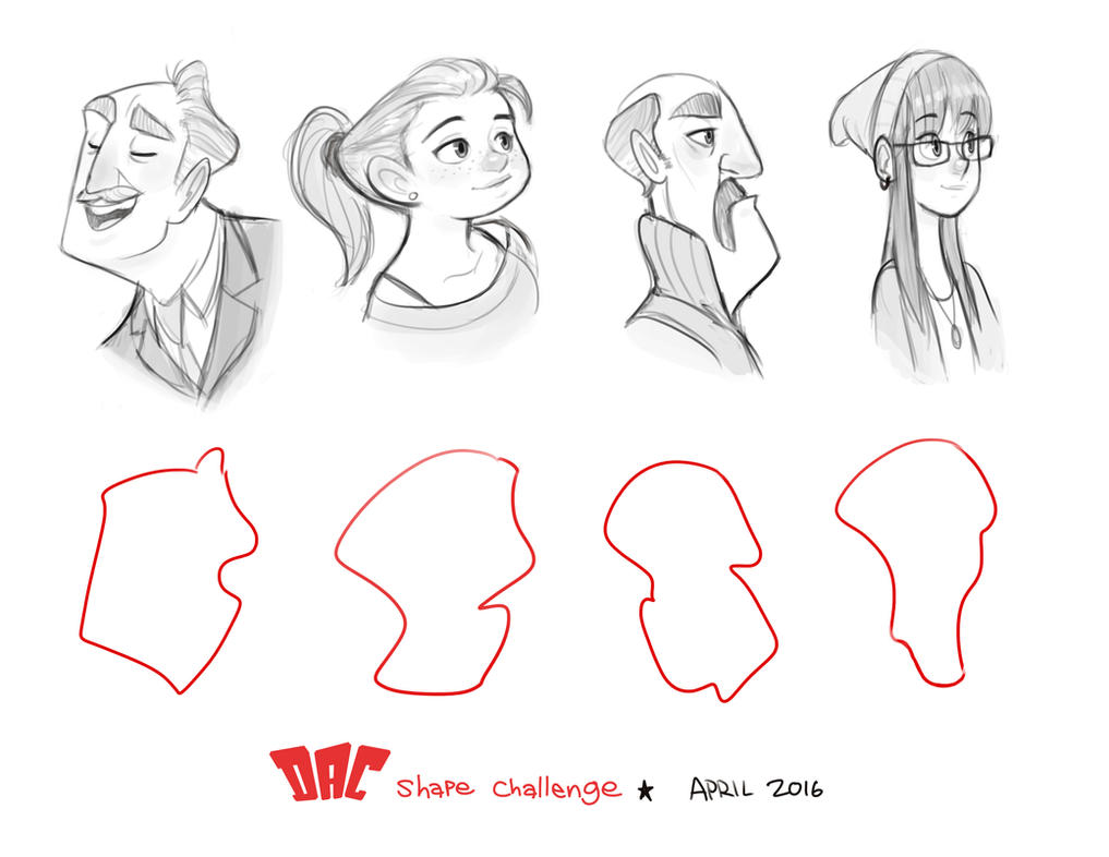 Character Design Face Shapes : April shapes by luigil on deviantart