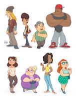 Random Characters 1 by LuigiL