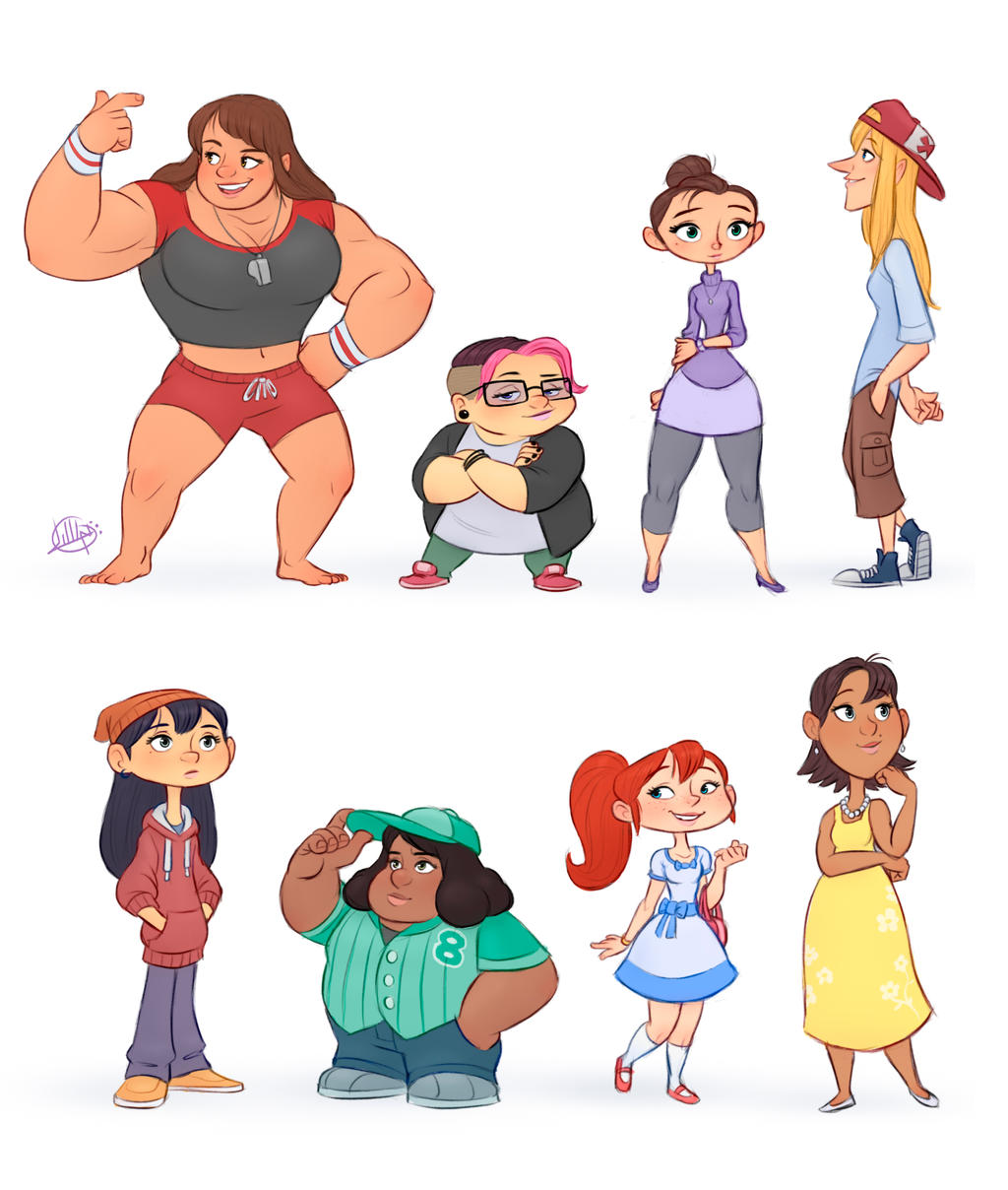 Character Design Reference Photos : Random characters by luigil on deviantart