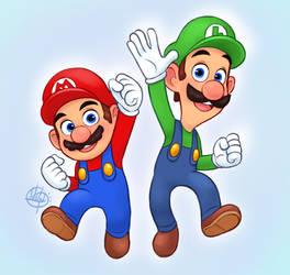 Super Mario Bros by LuigiL