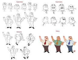 Teacher Character Design by LuigiL