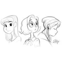 Procreate Cooldown Sketches by LuigiL