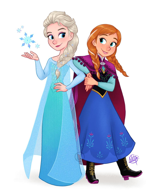 Elsa and Anna by LuigiL on DeviantArt