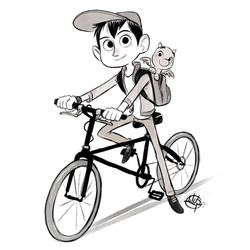Cycle Kid and his Dragon by LuigiL