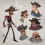 Cowboy Sketches