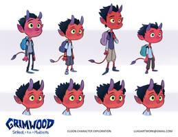 Eldon Soulshade Character Exploration by LuigiL