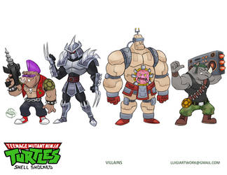 TMNT villains by LuigiL