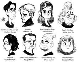 Varied Brush Sketches 1 by LuigiL