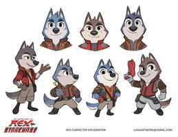 Rex Starchase Character Exploration by LuigiL