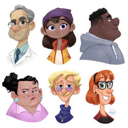 Random Character Busts by LuigiL