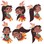 Tribal Girl Expressions