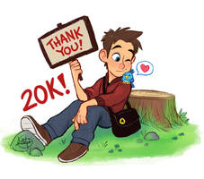 20K Thank You Twitter by LuigiL