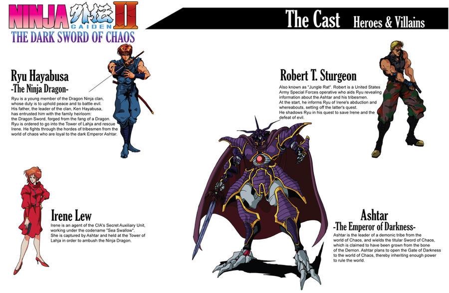 Ninja Gaiden Ii Book Cast By Hellstinger64 On Deviantart
