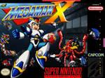 Megaman X SNES box cover