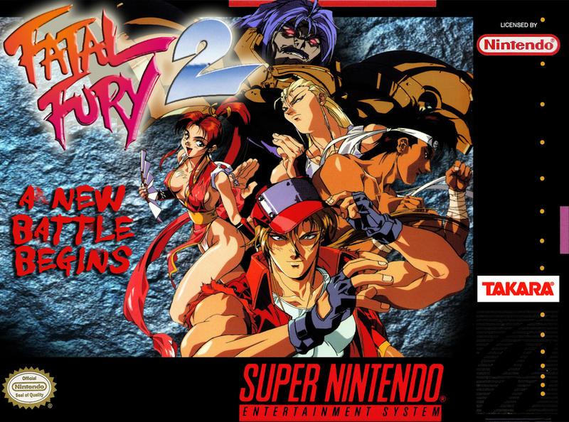 Fatal Fury 2 SNES box cover by Hellstinger64 on deviantART