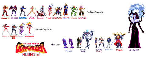 Voltage Fighter GOWCAIZER edited and created chars by Hellstinger64