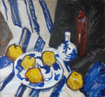 Still-life with quince