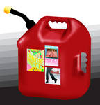 Gallon gas container