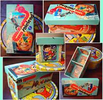 collage en mi caja de madera by romique