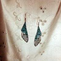 Plique-a-jour Wing Earrings by MicheleCobb