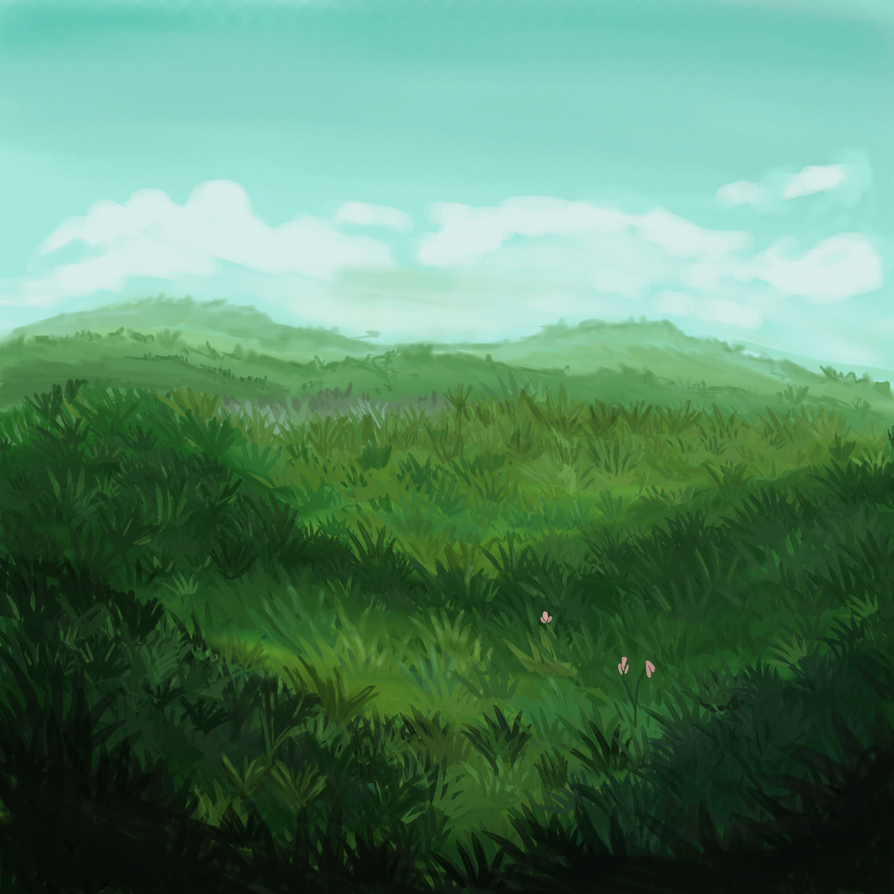 Trying to make a grassfield by sansan2111