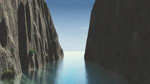Between the cliff wallpaper by Vuenick