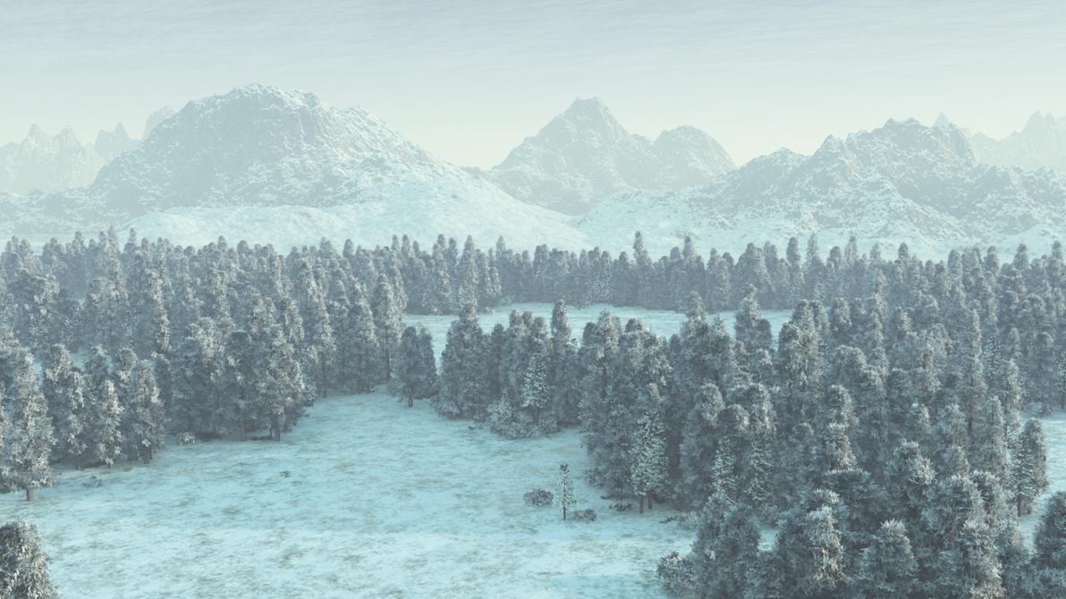 Snowy Landscape wallpaper by Vuenick