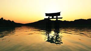 Miyajima Sunset Japan Wallpaper by Vuenick