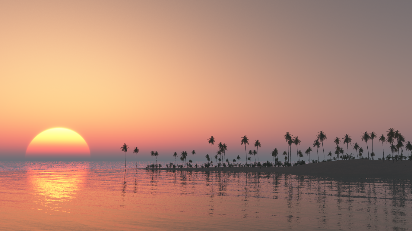 Tropical Dawn Wallpaper by Vuenick