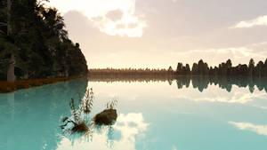 Quiet Lake Wallpaper by Vuenick