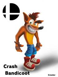 Crash Bandicoot Fanart (Reuploaded) by ElCreatorDraws