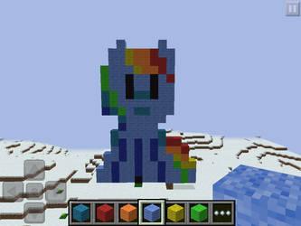 Rainblue pony pixel thing by Dragondud