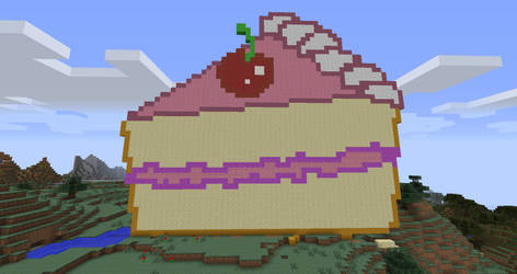 MineCraft Cake slice