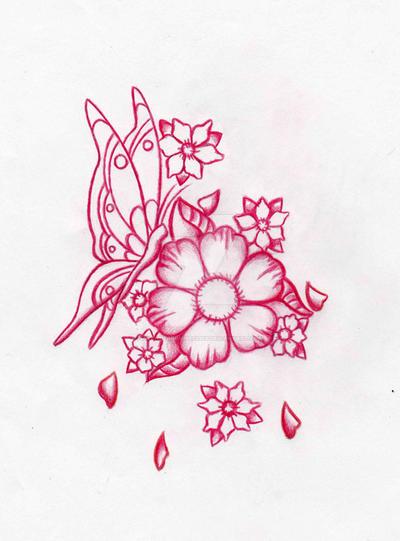 c4ac9d682 Cherry Blossom Butterfly + by AvengedDemise13363 on DeviantArt