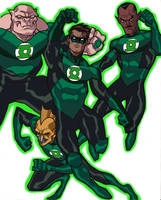 green lantern movie animated by CHUBETO