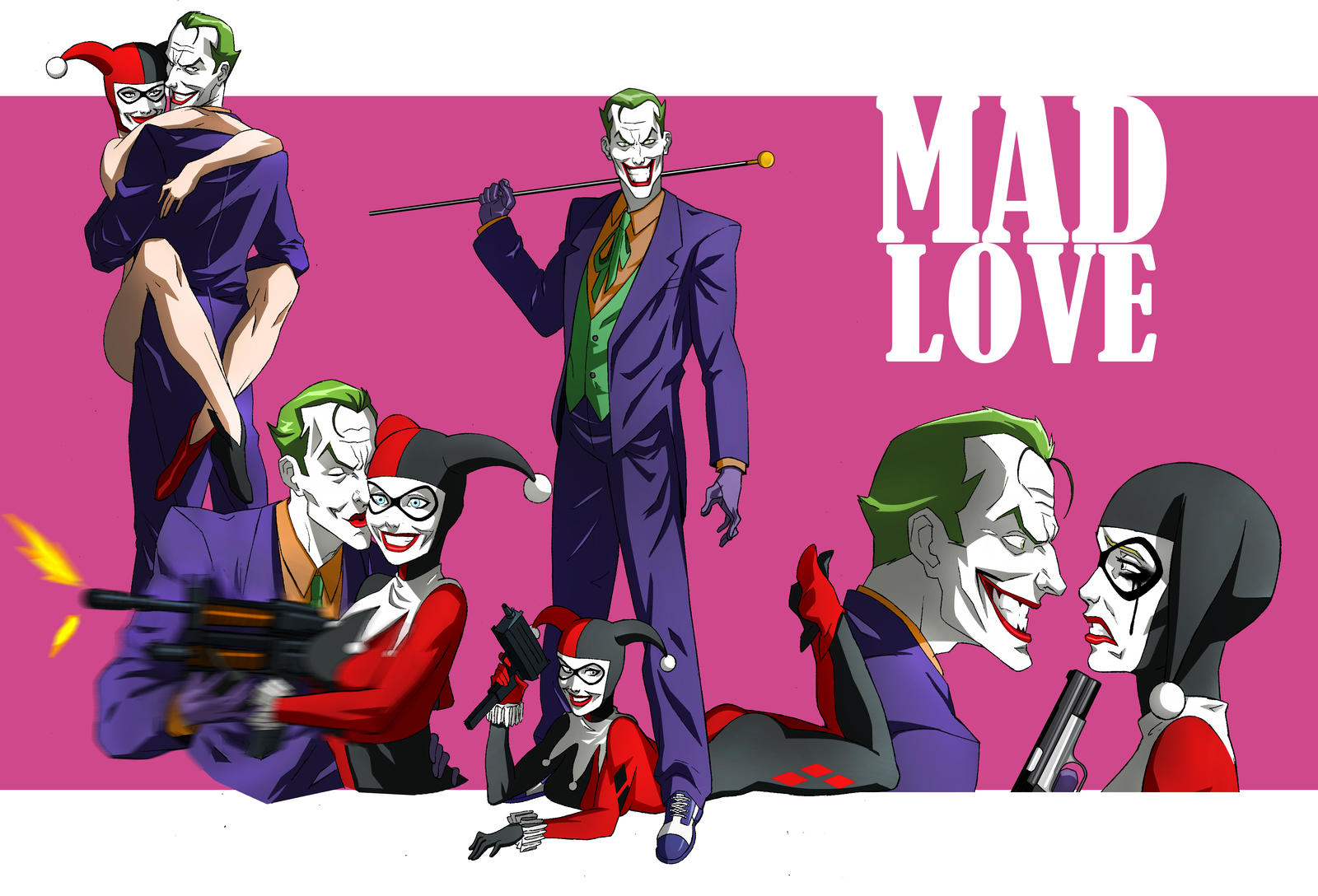JOKER AND HARLEY ANIMATED by CHUBETO