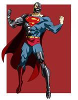 CYBORG SUPERMAN ANIMATED by CHUBETO