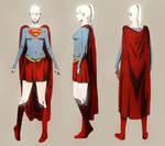 Supergirl model sheet