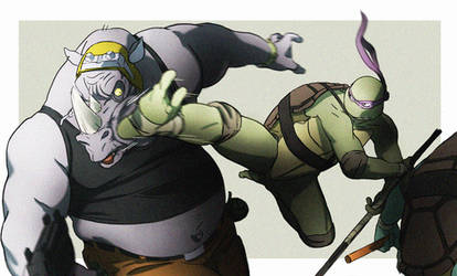 Donnie and Rocksteady